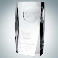 Crystal Glass Beveled Globe Column