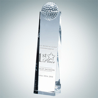 Crystal Glass Golf Ball Tower