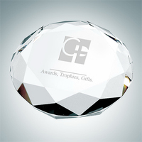 Octagon Crystal Glass Paperweight