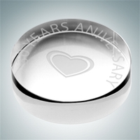 Crystal Glass Round Paperweight