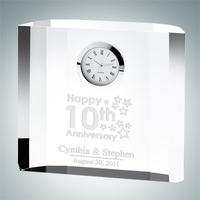 Fantasy Block Crystal Glass Clock