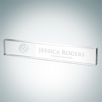 Crystal Glass Nameplate