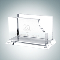 Business Card Crystal Glass Holder