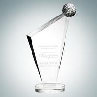 Conception Golf Crystal Glass Award