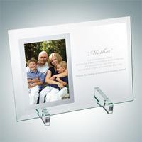 Jade Glass Beveled Vertical Mirror Photo Frame