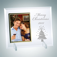 Jade Glass Beveled Vertical Gold Photo Frame