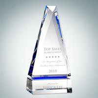Obelisk of Success Crystal Glass Award