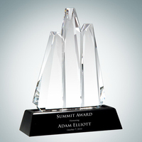 Reach For the Summit Crystal Glass Award