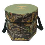 Camouflage folding portable same cooler set
