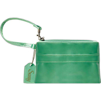Small Wristlet Zippered Bag with Removable Tag