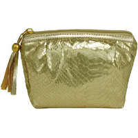 Foiled Style Snakeskin Cosmetic Bag with Tassel