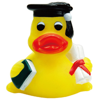 Mini Rubber Graduation Duck