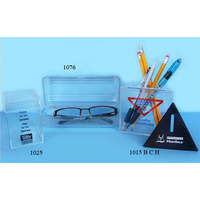 Clear Triangular Bank/Container/Pencil Holder