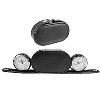 Dual Time Alarm Clock/Black Case