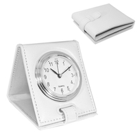 Folding Alarm Clock, White