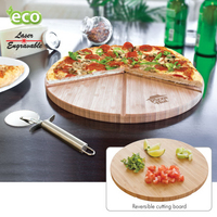 Gourmet Bamboo Pizza Set/Cutting Board