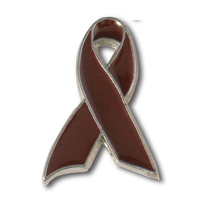 Brown Awareness Ribbon Lapel Pin