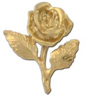 Rose 2 Lapel Pin