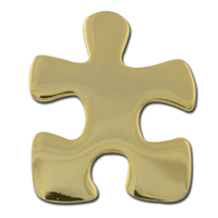 Crucial Puzzle Piece Lapel Pin