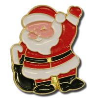 Santa Waving Lapel Pin
