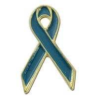Teal Ribbon Lapel Pin
