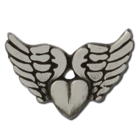 Winged Heart Lapel Pin