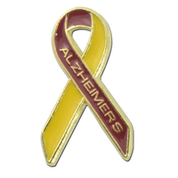 Alzheimer's Awareness Ribbon Lapel Pin
