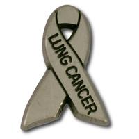 Lung Cancer Awareness Ribbon Lapel Pin