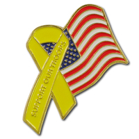 Support Our Troops American Flag Lapel Pin