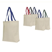Traditional recycled 100% cotton canvas tote bag