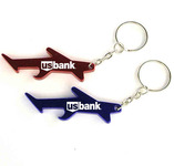 Plane / aircraft shape bottle opener keychain