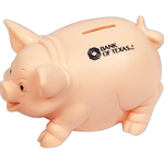 Traditional Flesh Pig Family Bank