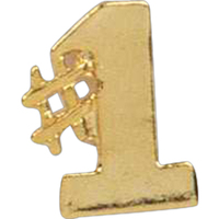 Number One Shaped Lapel Pin