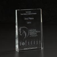 3D Crystal Wedge Small Award