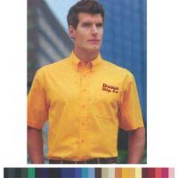 Men's Short Sleeve Cotton/Poly Oxford Button-Down Shirt Rx