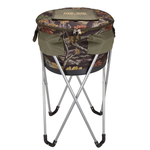 Camouflage Collapsible Barrel Cooler with Stand