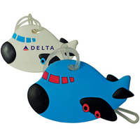 Airplane Shaped Soft PVC Luggage Tag