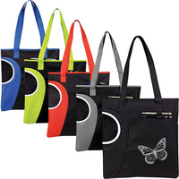 Zippered Square Highlight Tote
