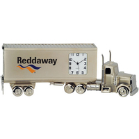 Container Truck Metal Quartz Clock