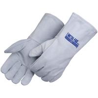 Gray Leather Welder Gloves with Cotton Thread