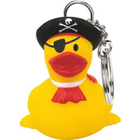 Rubber One-Eyed Pirate Duck Key Chain
