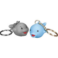 Rubber Dolphin Key Chain