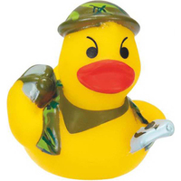 Mini Rubber Soldier in Camouflage Outfit Duck