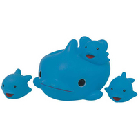 Rubber Dolphin 4pcs Big Family