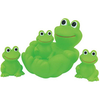 Rubber Frog 4pcs Big Family