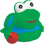 Rubber Basketball Frog