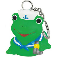 Rubber Sailor Frog Key Chain