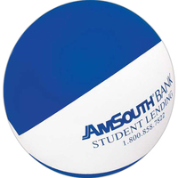 """16"""" Inflatable Alternating Blue and White Beach Ball"""