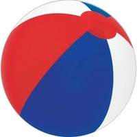 "16"" Inflatable Alternating Red/White & Blue Beach Ball"
