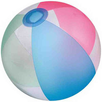 "16"" Inflatable Transparent w/Opaque Mixed Beach Ball"